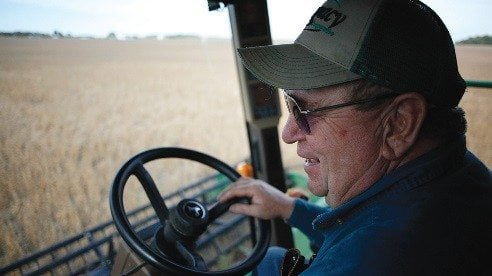 Motter spends most of the late fall harvesting his soybean crop.