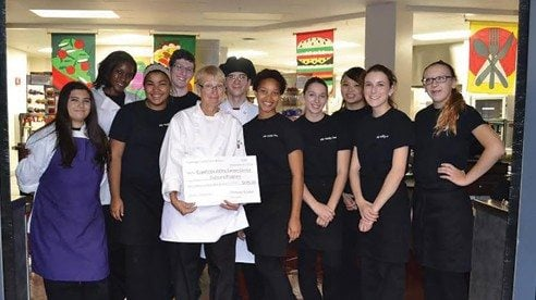 The Cuyahoga County Farm Bureau board of trustees provided funds for a field trip for Cuyahoga Valley Career Center students in the culinary arts program and held its annual meeting at Cuyahoga Valley Career Center.