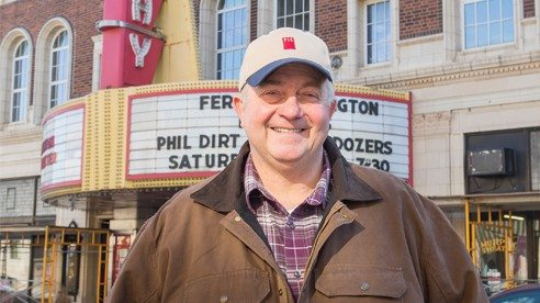 Rhonemus helped bring the movie Farmland to the historic Murphy Theatre in Wilmington