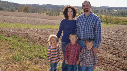 Kelly and Michelle Abfall are the 2014 winners of Ohio Farm Bureau's Outstanding Young Farmer award.