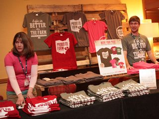 T-shirts sales during the Young Ag Professionals winter conference.