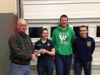 L to R, Allen Clark, Katie Wagner, Gavinn Tornes, & Derek Huck. Team member not pictured is Eric Flowers.
