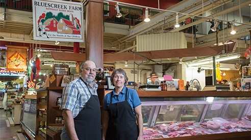 David and Cheryl Smith are the owners of Bluescreek Farm Meats at the North Market in Columbus.
