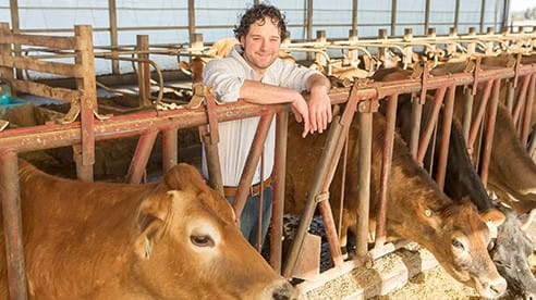 Karl Wedemeyer and his family operate White Diamond Farm, a 120-cow Jersey dairy farm.