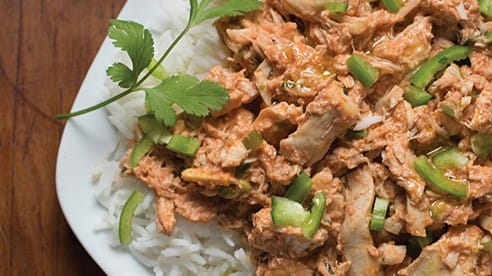 This recipe uses butter for sautéing and to finish a rich sauce. It's a classic Indian dish that takes almost less time to make than the accompanying rice. Spice it up, or not, with green chile peppers. By the way, this dish gets better with time. Make it up to two days ahead, refresh with more pepper and cilantro, if needed, and dig in.