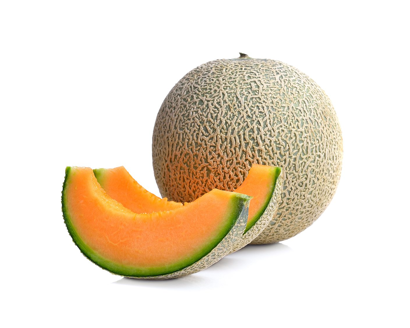 Fresh  ripe melon on white background