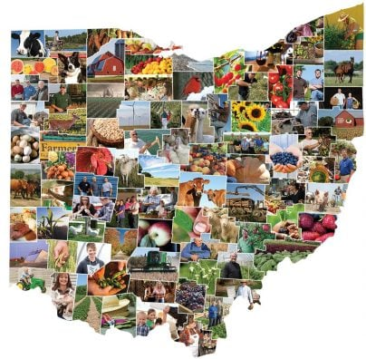 Collage of the 88 counties in Ohio