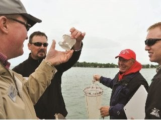 Water samples from Lake Erie.
