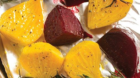 Please give beets a chance with this method. Slow roast them into an amazing candy-like finish, which has the potential of converting long-time avoiders into life-long lovers of this crimson root vegetable.