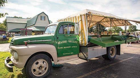 Whether it's the novelty or nostalgia, Maize Valley customers like buying their produce from this iconic truck filled with the season's best.
