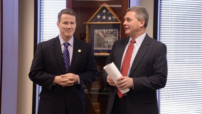 Jon Husted, Secretary of State, visited Ohio Farm Bureau Federation for our April 2014 Stand-up staff