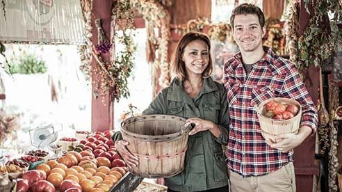 Courtney and Rocky Shanower, owners of Park Street Pizza, have worked in partnership with Sweetwater Farm to obtain locally grown produce for their restaurant for the past six years.