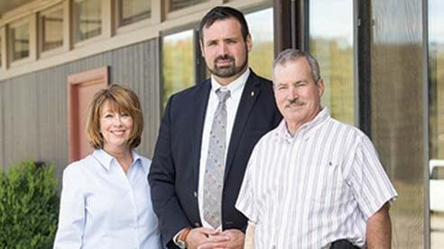 From left to right: Barb Niemeyer, trustee of the Choctaw Lake Property Owners Association; Steve Berk, Ohio Farm Bureau organization director, and Dale Rapp, president of Madison County Farm Bureau.