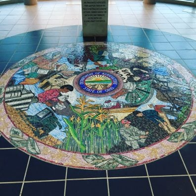 The Ohio Department of Agriculture Mosaic, which is located in their administration building in Reynoldsburg.