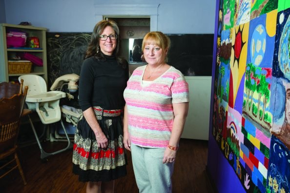 (Left to Right) Cathy Campbell, executive director of Peg's House and Shelly Marling, shelter coordinator. (Jodi Miller)