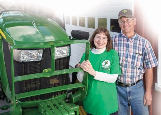 (Left to Right) Lova Ebbert and her husband Jerry Ebbert on their farm in Belmont county.(Jodi Miller)