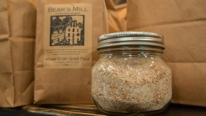 Bear's MIll whole grain flour for holiday treats made from whole grain flour