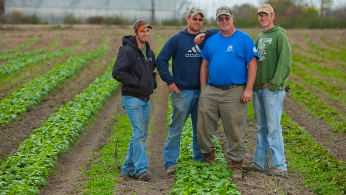 (Left to Right) Phillip, Wesley, Bill and Matthew. VanScoys VanScoy Farms Ridgeview, Ohio.(Jodi Miller)