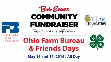Bob Evans Community Fundraiser May 16 and 17, 2016