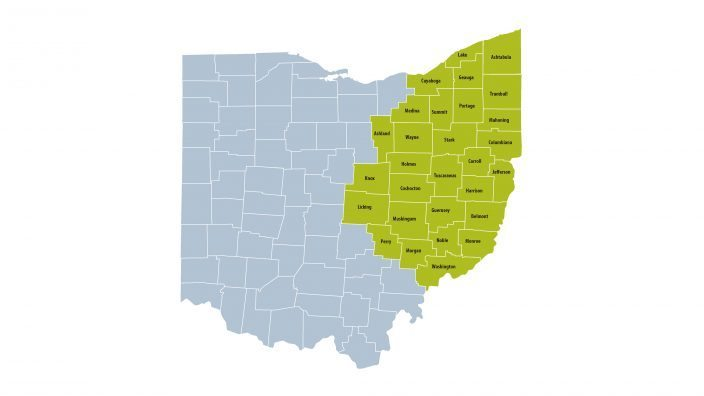 29 North East Ohio Counties