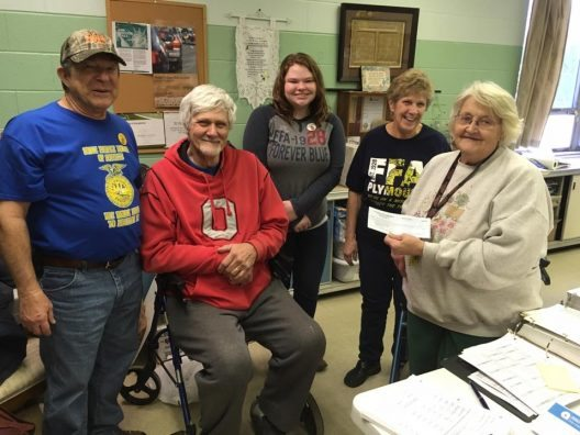 Plymouth-Shiloh FFA Alumni SHARE donation with the local food bank.
