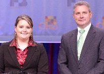 Bailey Elchinger, 2013 Discussion Meet winner and OFBF President Steve Hirsch