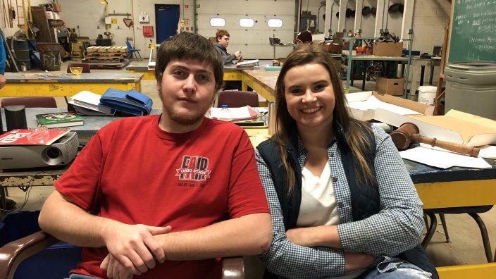 Northwestern FFA Student of the Months: David Miley and Jessie Bair.