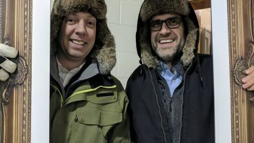 Vice President Austin Cable and Board Member Matt Somerville know how to keep their ears warm!