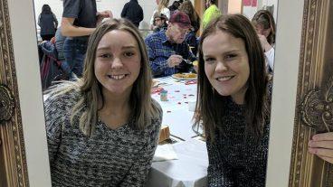 Office Intern Jada Garrison and volunteer Rachel Barnett