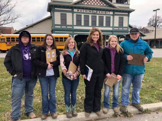 General Livestock Team: Cody Morrow, Taylor Dawson, Abby Ramseyer, Jessie Bair, Riley Stull, and Kyle Piscione.