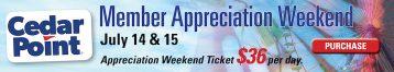 Cedar Point Appreciation Weekend
