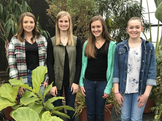 State Members (L to R) Shawna Barr, Hannah Way, Adda Bickel, and Madison Eaton