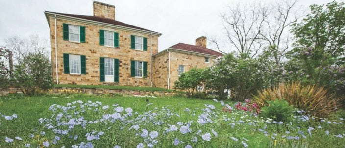 Adena Mansion & Gardens Historic Site in Chillicothe, the home of Ohio's first governor, Thomas Worthington.