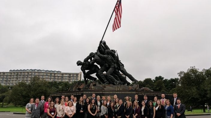 The group at the Iwo Jima memorial