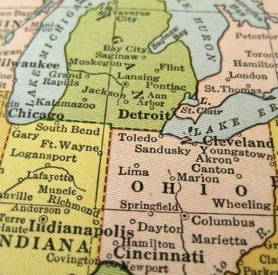Michigan And Ohio Map.Michigan Ohio Show Big Contrasts Ohio Farm Bureau
