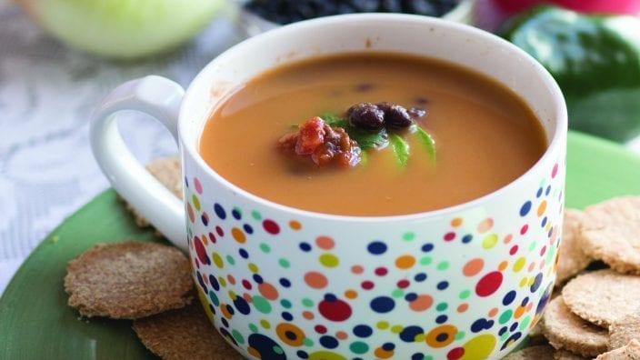 Poblano Black Bean Soup
