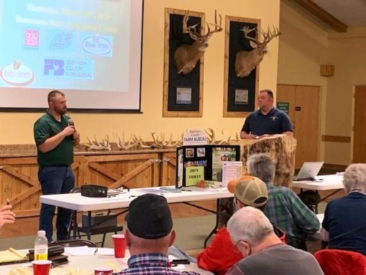 Levi Arnold with Guernsey County Soil & Water Conservation District and Jeremy Scherf, ODNR Forester.