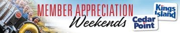 Amusement Parks Member Appreciation Weekends