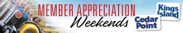Amusement Parks Member Appreciation Weekends