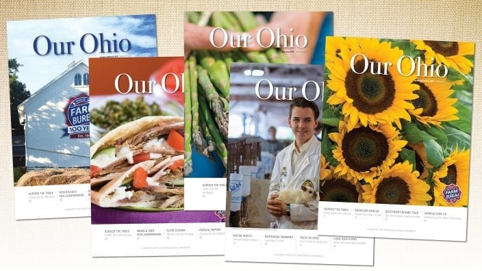 Our Ohio magazine cover collage