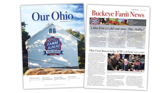 Our Ohio and Buckeye Farm News Cover Samples
