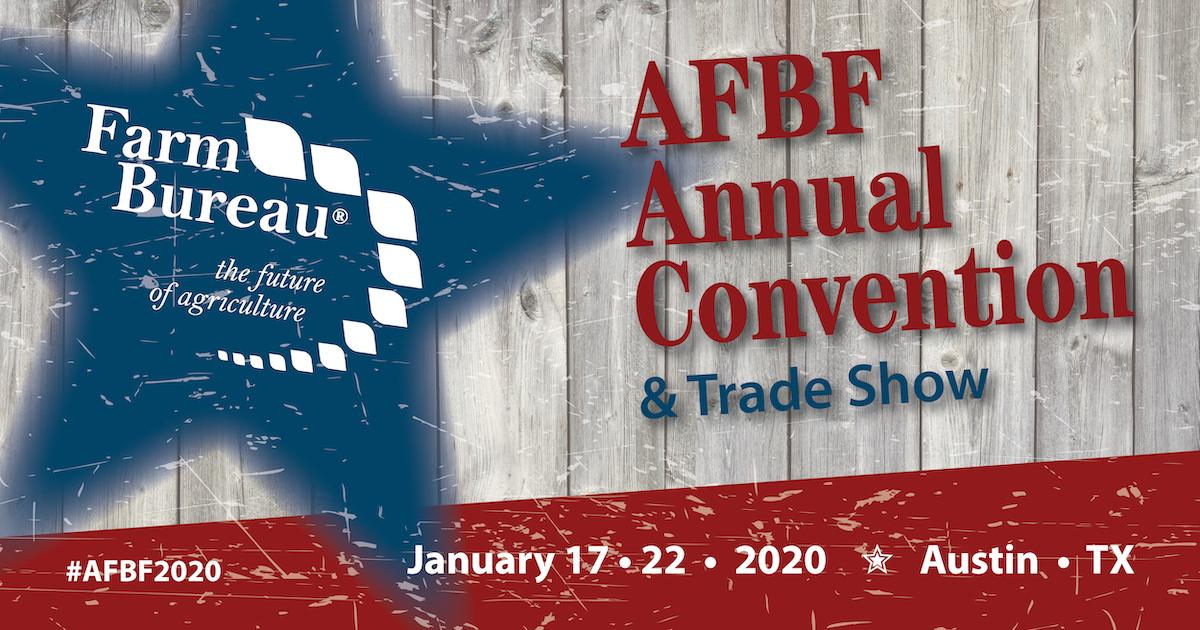 Grainger Show 2020.2020 American Farm Bureau Annual Convention Trade Show
