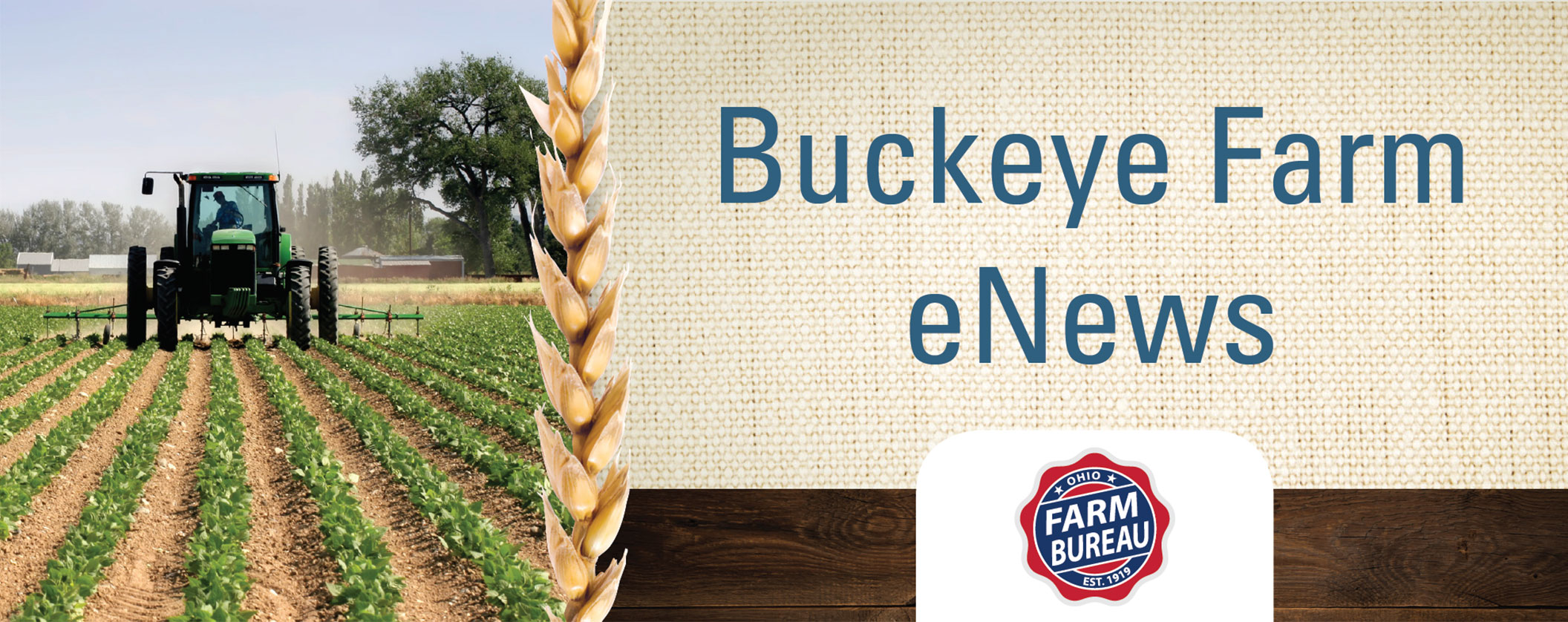 Buckeye Farm eNews header