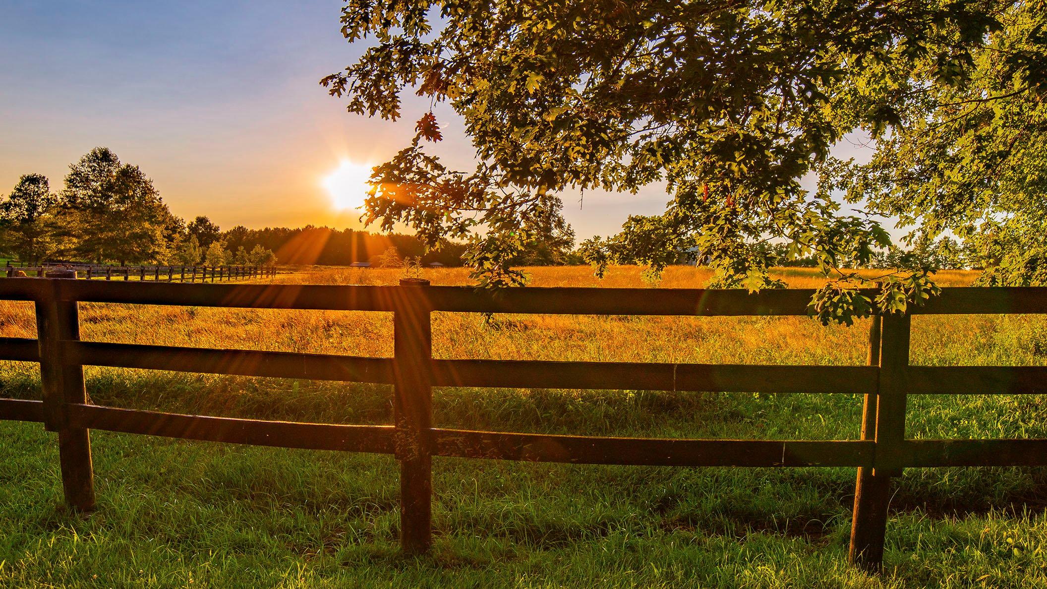 Rural sunset, Union County, Ohio