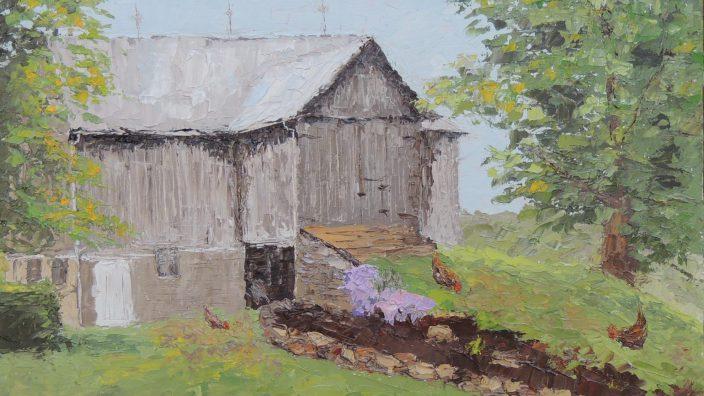 GORGEOUS Primitive Folk Art Cow Painting on Antique Barn Wood Hessler Ohio