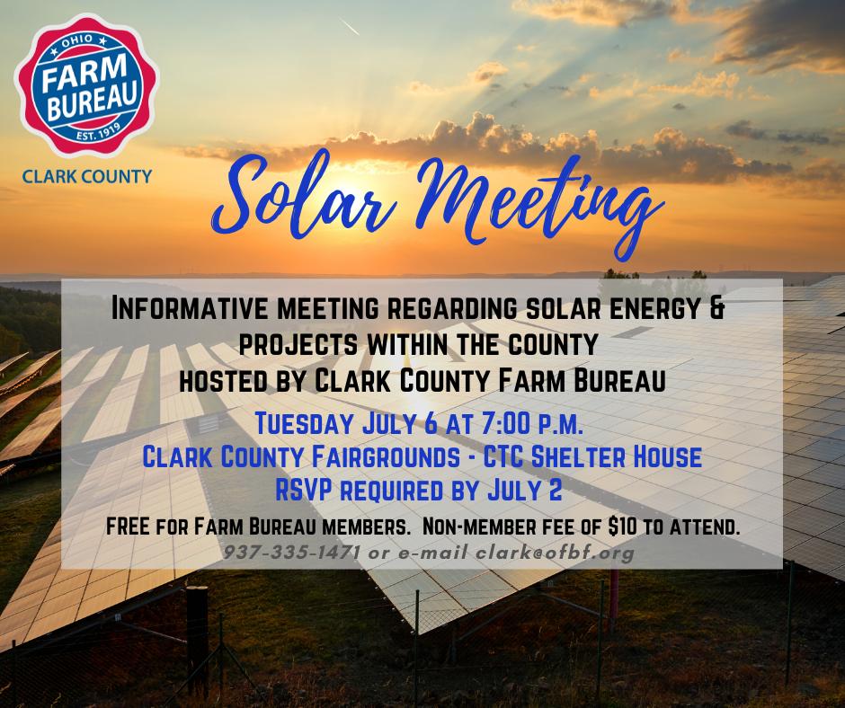 Clark County Farm Bureau Solar Meeting 2021